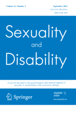 """Revue scientifique """"Sexuality and Disability"""""""