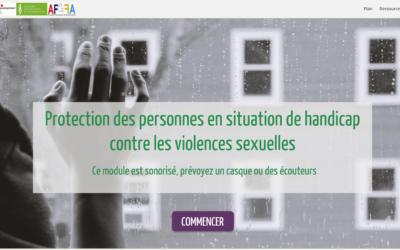 """Elearning """"Protection des personnes en situation de handicap contre les violences sexuelles"""""""